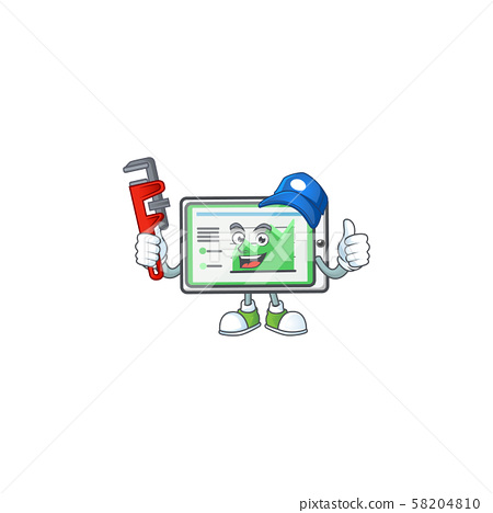 Plumber up chart horizontal table on white background 58204810