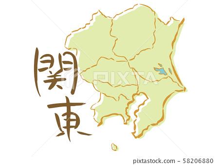관동 붓 제목 일본 지역지도 58206880