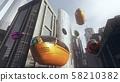 Autonomus Electric Vehicle EV AV Taxis Future Concept 3D Illustration 58210382