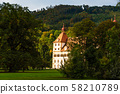 View at Eggenberg palace in Autumn tourist spot, 58210789