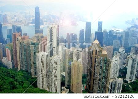 香港觀景旅遊形象經濟 58212126