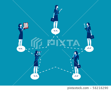 Business and network. Concept business vector, 58218290