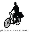 a man body silhouette vector 58223052