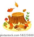 가을의 그루터기 58223600