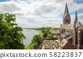 View over the Meuse to the castle keverberg and 58223837