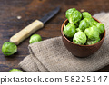brussels sprouts inflorescences 58225147