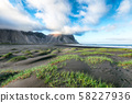 Fantastic sunny day and gorgeous black sand dunes 58227936
