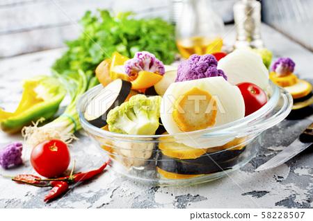 raw vegetables 58228507