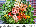 herbs and spices ingredients spicy soup fresh 58232811