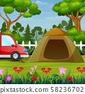 Summer vacation on the nature landscape 58236702