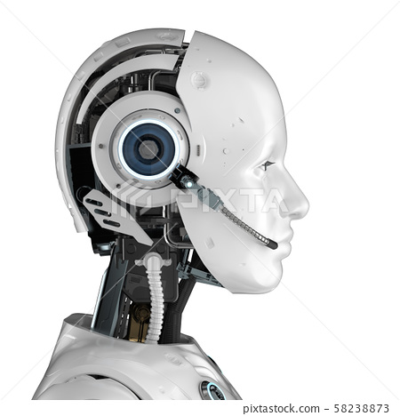 cyborg or robot with headset 58238873