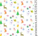 水彩聖誕節插圖無縫模式 58239125