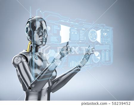 Female cyborg or robot 58239452