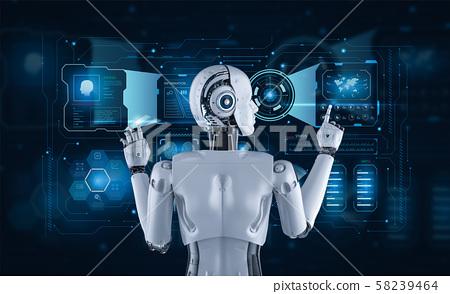 Female cyborg or robot 58239464