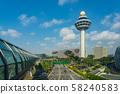 Singapore Changi International Airport Control Tower 58240583