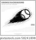Grunge white tennis splash moving 58241898