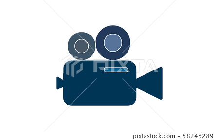 Video camera icon. Cinema camera icon. Film camera, Movie camera icon. Vector icon EPS 10 58243289