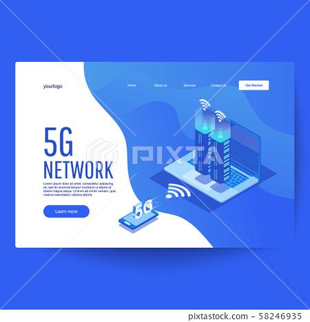 5G new wireless internet wifi connection. 58246935
