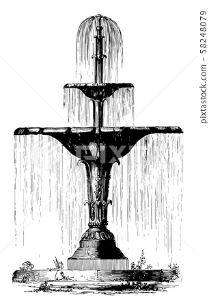 Water Fountain, purely decorative,  vintage 58248079