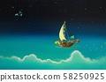 하늘 바다 달의 배 58250925