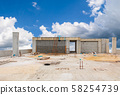 construction site high building and sky background 58254739