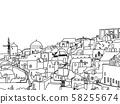 Santorini island, Greece, illustration 58255674