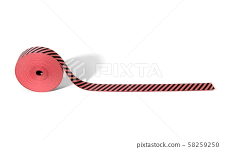 Colorful striped red and black elastic ribbon 58259250