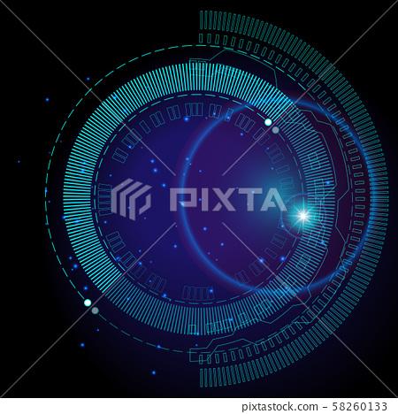 Futuristic hud imagine space background 58260133