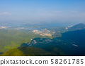 kowloon peak view of Ho Chung Valley, hk 58261785