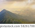 the Mountain of Kowloon Peak ,hong kong 58261788