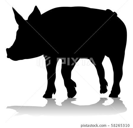 Pig Silhouette Farm Animal Stock Illustration 58265310 Pixta Download transparent pig silhouette png for free on pngkey.com. pixta