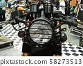 Custom classic motorcycle head lamps design. Custom made by its owner using his own creativity.  58273513