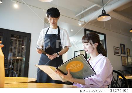 咖啡馆餐厅订单 58274404