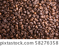 Roasted Coffee Beans background, Brown coffee 58276358
