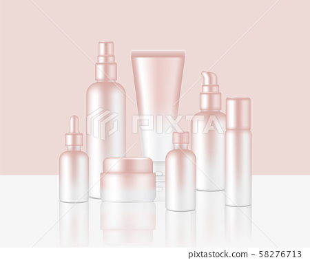Spray Bottle Mock up Realistic Rose Gold Cosmetic 58276713