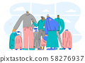 Travel people stand full length Vector flat design 58276937