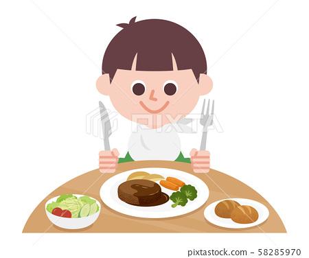 漢堡 漢堡牛排 用餐 58285970
