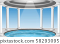 landscape of pool in the white dome 58293095