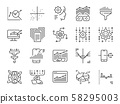 Data science line icon set. 58295003