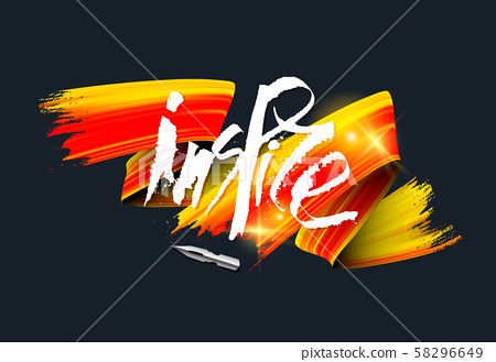 Grunge style white ink lettering realistic vector illustration 58296649