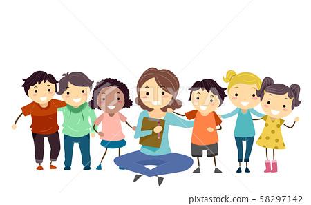 Stickman Kids Group Counseling Psychiatrist 58297142
