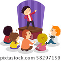 Stickman Kids Comedy Show Illustration 58297159