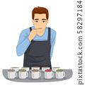 Tea Tasting Man Illustration 58297184