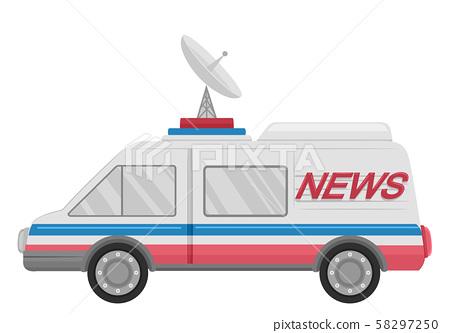 News Van Vehicle Illustration 58297250
