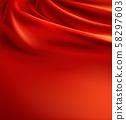 red fabric background, luxury silk cloth 58297603