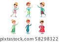 Set Of Vector Illustrations With Young Fairy Princes And Kings Cartoon Characters 58298322