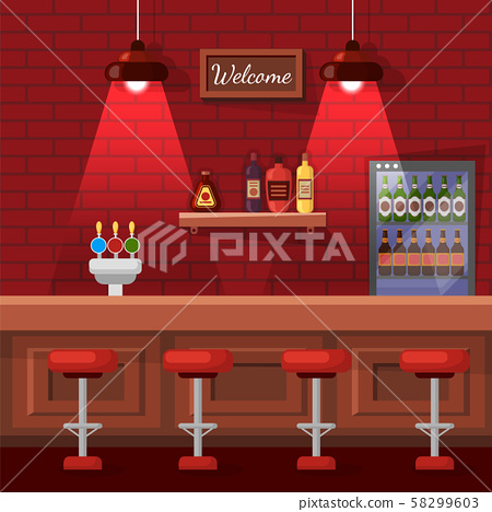 Beer Bag, Celebrating Place, Pub Red View Vector 58299603