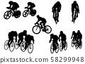 스포츠 실루엣 자전거 58299948