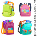Colored School Backpack Back to School 58299979