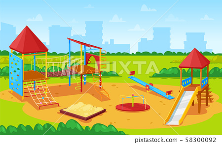 Playground for Kids Cityscape, City Yard Park 58300092